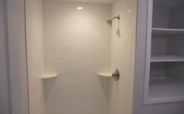 All White Bathroom Shower Remodel