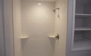 All White Bathroom Shower Remodel