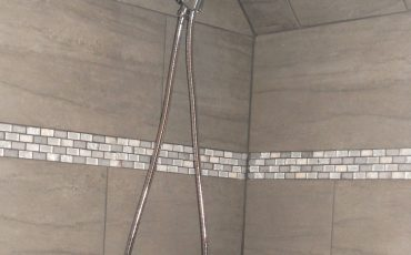Grey Shower Bathroom Remodel